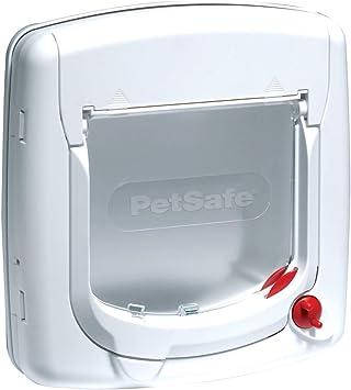 Chati/ère De Luxe Staywell pour Chat avec Syst/ème de Verrouillage /à 4 Positions Extension de Tunnel Incluse PetSafe Blanc