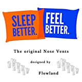 The Original Nose Vents to Ease Breathing and Snoring - Natural Snoring Solution - 8 Premium Quality Snore Stoppers with 2 Travel Cases Designed by FLOWLAND