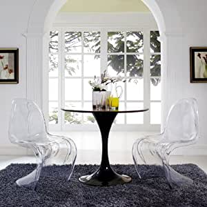 Amazon.com - Modway Slither Clear Dining Side Chairs Set of 2 in ...