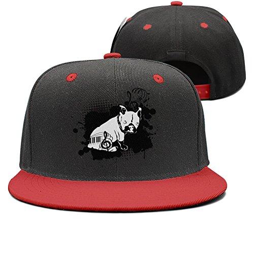 ToddBurke Adjustable Plain Cap For Men and Women Music Bulldog Sun Hats For Sports Golf Running Fishing Baseball Cap (8 Leash Plain)