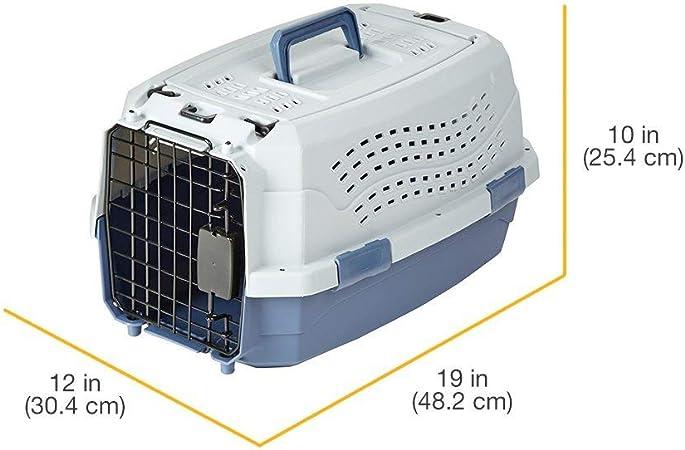 AmazonBasics - Trasportín de 2 puertas con carga superior, 48 cm: Amazon.es: Productos para mascotas