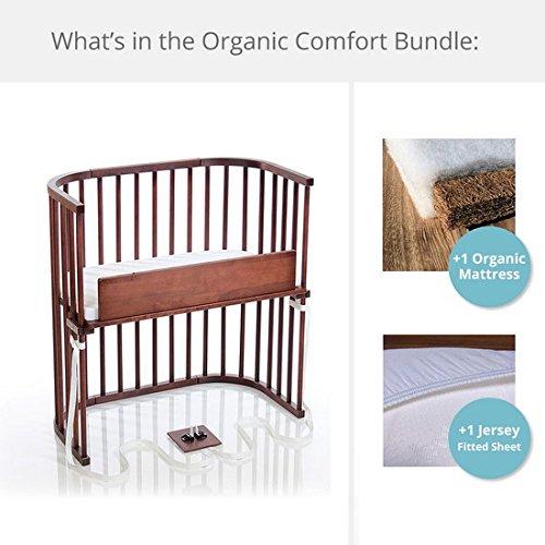 babybay Bedside Sleeper Organic Comfort Bundle in Deep Walnut by babybay