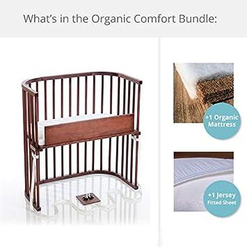 babybay Bedside Sleeper Organic Comfort Bundle in Deep Walnut