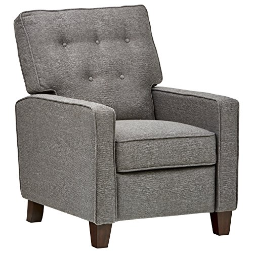 Stone & Beam Canfield Modern Reclining Tufted Arm Chair, 30.3