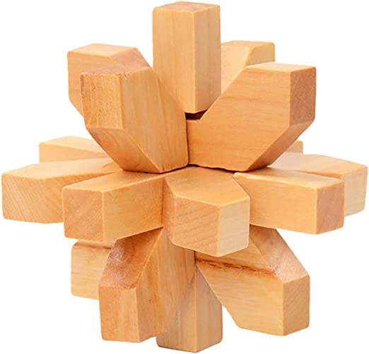 Wooden Kong Ming Lock Wood Brain Teaser Game Toy Gift for Children Adults