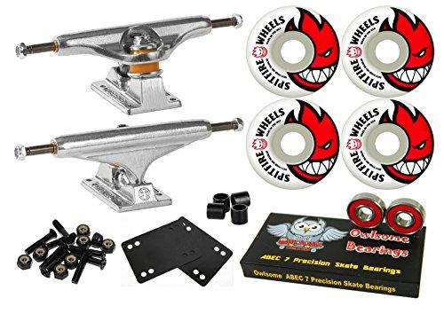 戦い治安判事突然Independent Stage 11 Skateboard Trucks Spitfire Bighead 52 mmホイールOwlsome軸受コンボ
