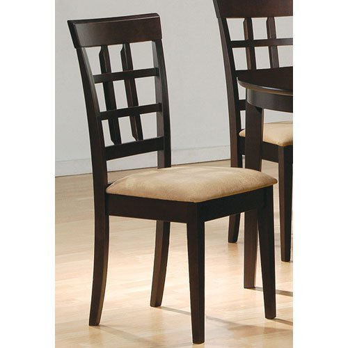 Gabriel Wheat Back Side Chairs Cappuccino and Beige (Set of 2) (Renewed)