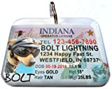 Indiana State Drivers License Personalized for Dogs and Cats by ID4PET (Regular 1.5'' x 1.125'')