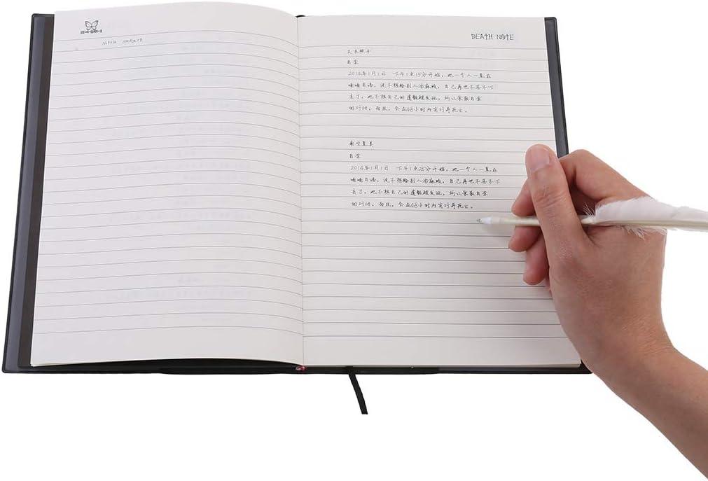 S-TROUBLE New Death Note Cosplay Cuaderno y Pluma Pluma Libro Animaci/ón Arte Escritura Diario
