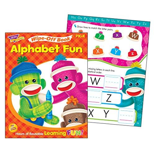 Sock Monkey Fun - Trend Enterprises Alphabet Fun Sock Monkeys Wipe-Off Book
