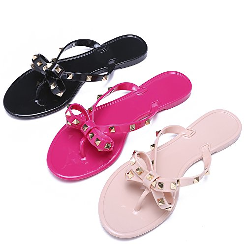 e184cd150 Qilunn Womens Bow Flip Flop Sandals