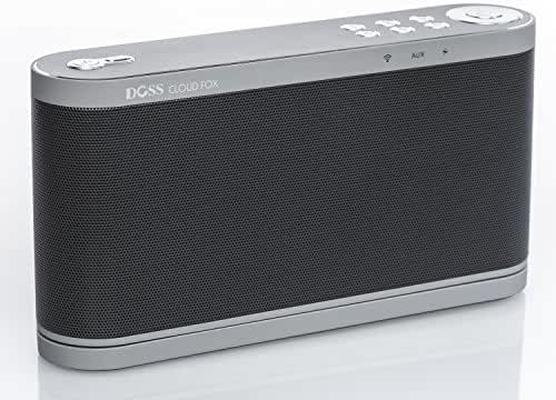 DOSS Wireless Wi-Fi music Speakers system,Online Streaming music smart speakers system,6 Customized Preset Buttons for Pandora,Spotify,iHeart,Tuneln,Tidal,3.5mm Audio Jack,16W output power[Black]