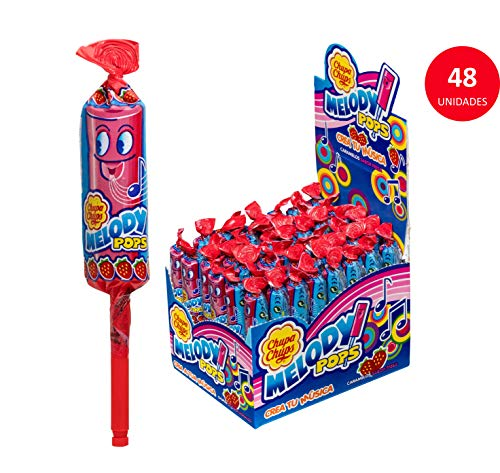 'Chupa Chups' Melody Pops - Strawberry 48 Pack/720g