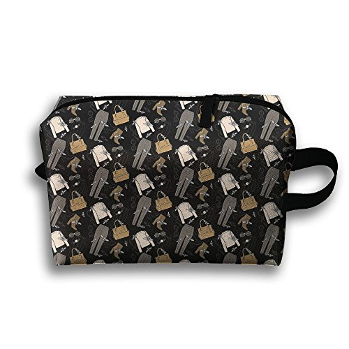 (Travel Buggy Bag Toiletry Pouch Toiletry Bag Costume Jewelry Bag Printing Zipper Clutch Bag Travel)