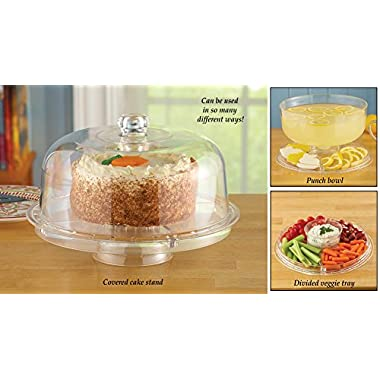 Cake Serving Tray And Punch Bowl Set