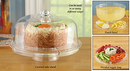 Cake Serving Tray And Punch Bowl Set -