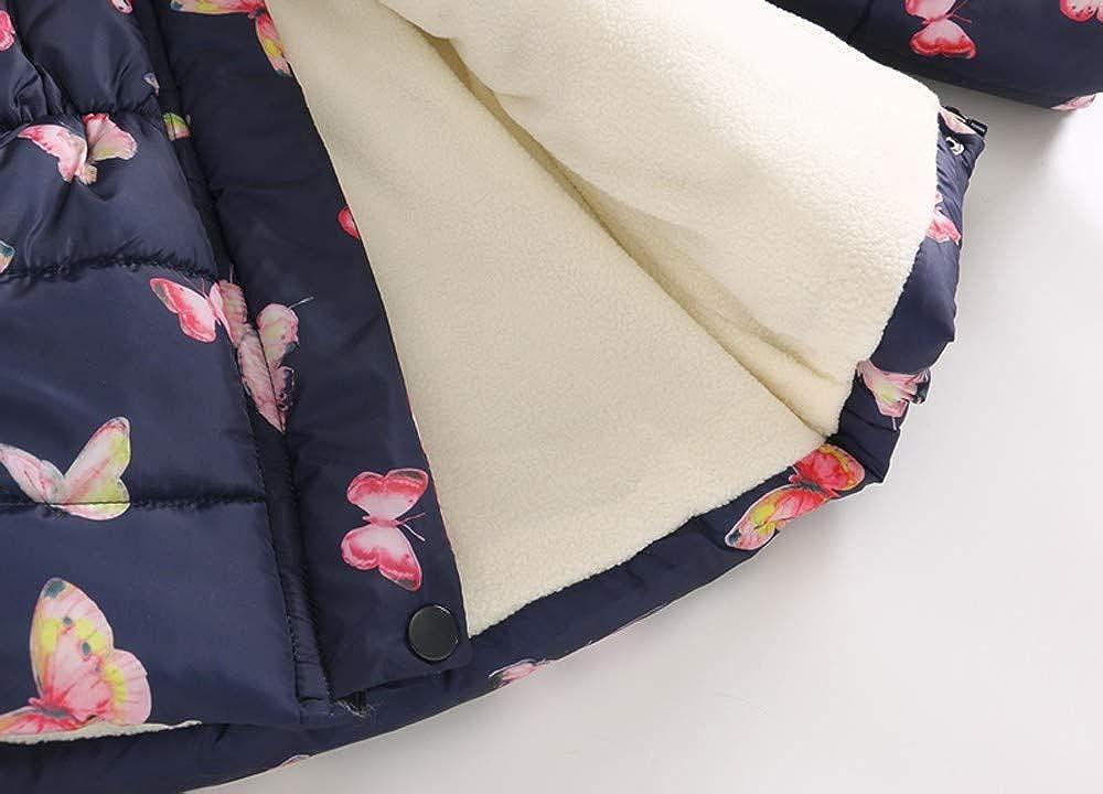 Amazon.com: Sumen Kids Winter Coats Little Girls Floral Thick Warm Jacket Fur Hooded Jacket: Clothing