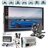 Car Rear View Camera + Cavogin 7'' inch Double Din Touchscreen In Dash Stereo Car Receiver Audio Video Player Bluetooth FM Radio Mp3 MP5/TF/USB/AUX + Remote Control