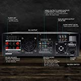Pyle 4 Channel Home Audio Power Amplifier - 3000 Watt Stereo Receiver w/ Speaker Selector, AM FM Radio, USB, Headphone, 2 Microphone Input for Karaoke, Surround Sound Home Theater System - PD3000A