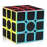 D-FantiX 3x3 Speed Cube Carbon Fiber Sticker 3x3x3 Magic Cube Puzzle Toys