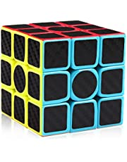 D-FantiX 3x3 Speed Cube Carbon Fiber Sticker Cool Magic Cube Puzzle Brain Teaser Toys