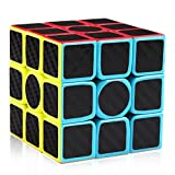 D-FantiX 3x3 Speed Cube Carbon Fiber Sticker 3x3x3 Magic Cube Puzzle Toys