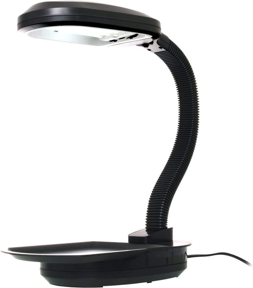 Hydrofarm FLF27D Desktop Plant Light with 27-Watt CFL Bulb, Black