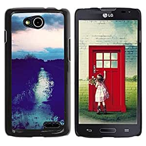 For LG OPTIMUS L90 / D415 Case , Field Sunset After Sky Night View - Diseño Patrón Teléfono Caso Cubierta Case Bumper Duro Protección Case Cover Funda