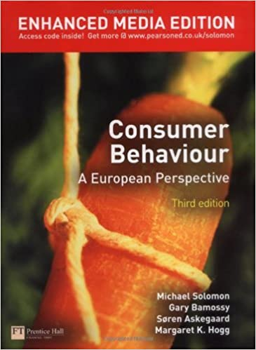 Consumer Behaviour: A European Perspective by Michael R. Solomon (2007-06-21)