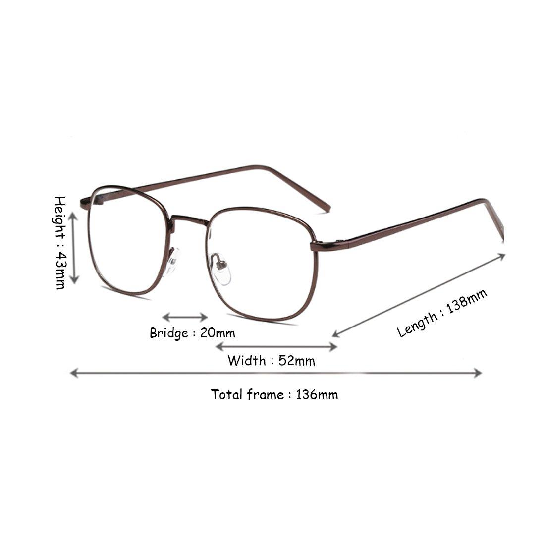 Huicai Männer und Frauen Myopie Brille Retro Fashion art Große ...