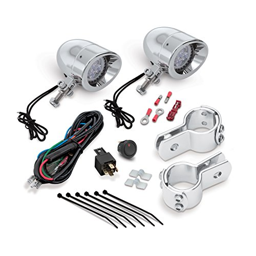 Show Chrome Accessories 55-365L Highway bar Mini LED Light Kit (1 - Lights Housing Plastic Driving