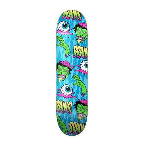 RudeBoyz 28 Inch Wooden Graphic Printed Display Skateboard Deck - Eyeballs and Brains Design
