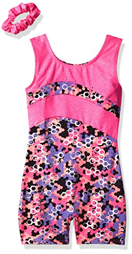 Jacques Moret Big Girls' Fun Gymnastics Biketard, Multi, M