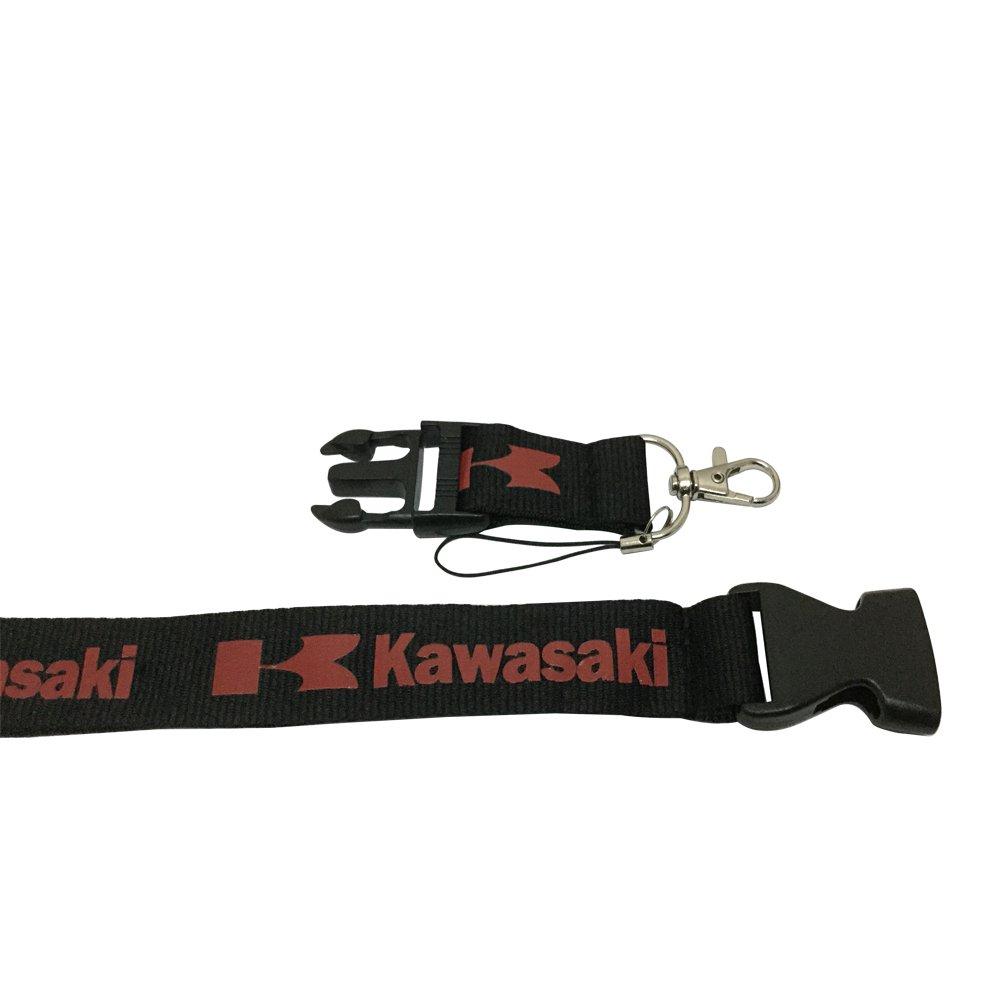 1pcs Black Color Kawasaki Logo Superbike Lanyard Keychain Accessories Motorbike Motorcycle Lanyard Badge Holder Lanworld