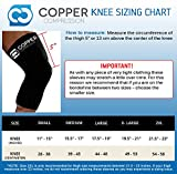 Copper Compression Recovery Knee Sleeve - GUARANTEED Highest Copper Content With Infused Fit. #1 Copper Knee Brace For Men And Women. Wear To Support Stiff And Sore Muscles And Joints