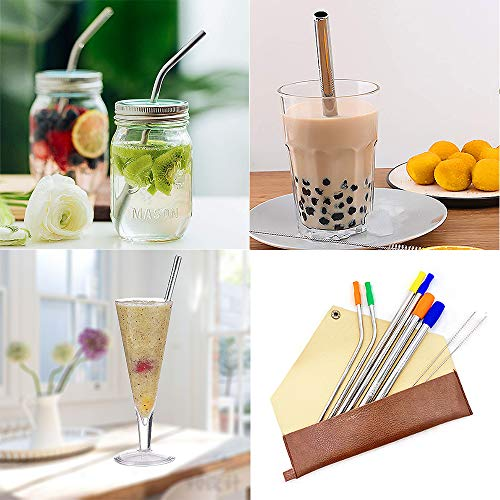 Smoothie Bubble Tea Premium Silicone Reusable Long /& Extra Wide Navy Blue Straw
