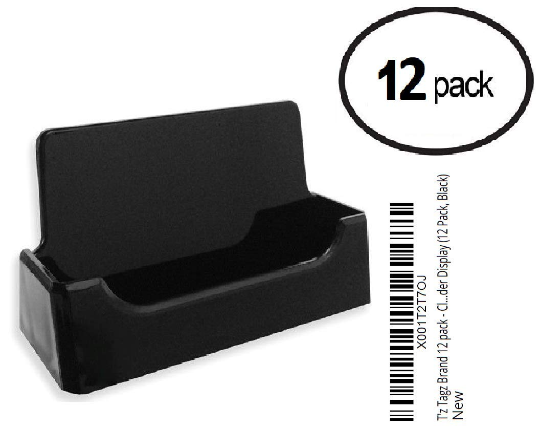 Amazon Tz Tagz Brand 12 Pack Black Plastic Business Card
