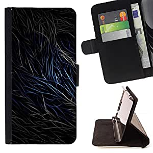 For Samsung Galaxy S6 - Abstract Fur Lines /Funda de piel cubierta de la carpeta Foilo con cierre magn???¡¯????tico/ - Super Marley Shop -