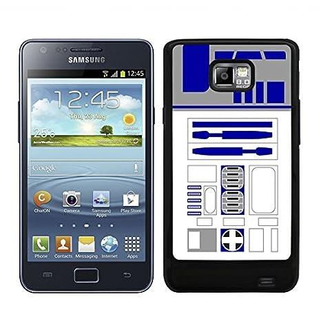 LC Diseños Funda Carcasa para Samsung Galaxy S2 R2D2 Borde Negro - D4