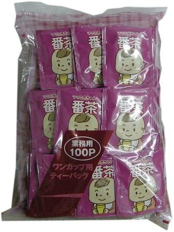 業務用 ワンカップ用 ママの赤ちゃん番茶ティーパック 100P(セロファン、アルミ)