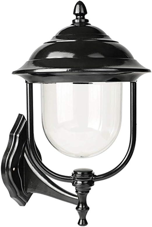 XYJGWBD Estilo Europeo Exterior Lámpara de Pared Aplique Jardín ...