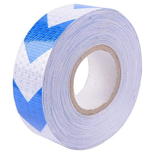 (Arrow Reflective Tape 2inx75ft Conspicuity Safety Warning Tape Blue and White)