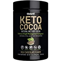 Keto Cocoa - Delicious Sugar Free Hot Chocolate Mix with 6g of MCTs for Appetite Suppressing Ketogenic Diet and Low Carb Lifestyle | No Gluten | 20 Servings