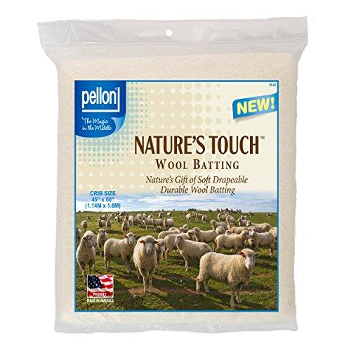 Pellon W-45 Crib Size Wool Batting, 45