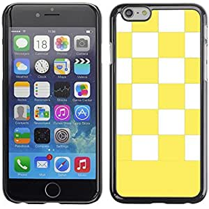 Graphic4You Checkered Pattern Design Hard Case Cover for Apple iPhone (Yellow)