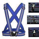 Best Reflective Safety Vests - Adjustable Reflective VestSafety Vest Elastic for Running, Jogging Review
