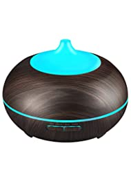 VicTsing 2nd Version Essential Oil Diffuser, 300ml Aroma Wood...