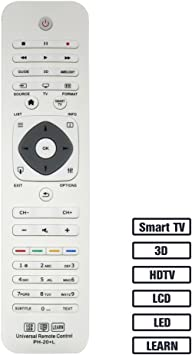 Alkia Universal Remote Control PH-20 for Almost All Philips Brand TV/ 3D/ Smart TV/LCD/LED/HDTV/Learn, 32PFL4609 32PFL4909 40PFL4609 40PFL4909 43PFL4609 43PFL4909: Amazon.es: Electrónica