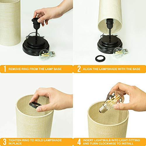 AULTRA LED Touch Table LAMP - Table Lamp Shade with Dimmable Touch Control Features & Phone Charging Port Used for… 6