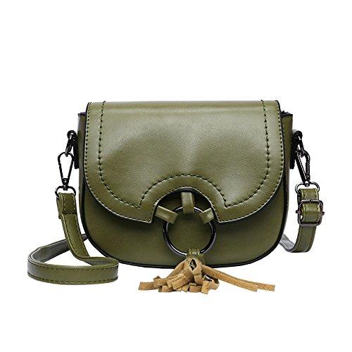 Bolso Retro green Bolsa Mini Portasilla Negro Bolso Crossbody Meaeo xUvzO